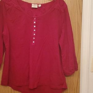 St. John's Bay Red Blouse Size XL